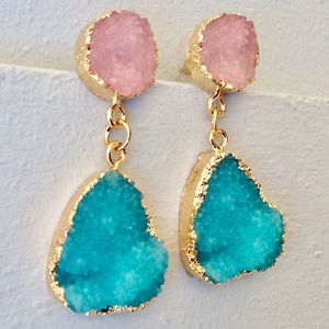 Anthropologie Coconut Soap / Handcrafted Earrings